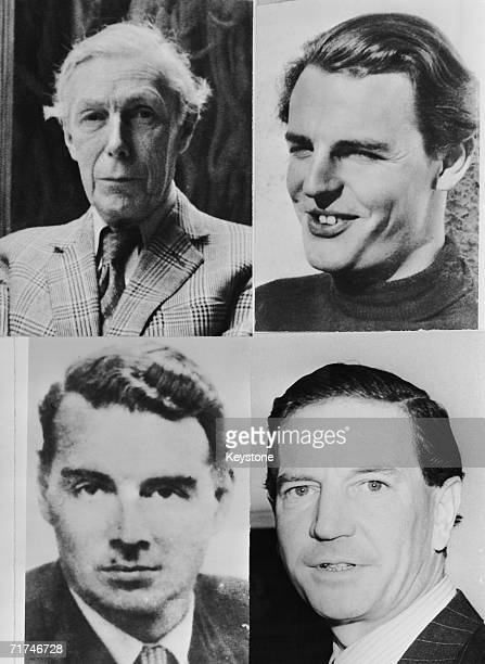 Four members of the 'Cambridge Five' graduates of Trinity College Cambridge who passed information from British Intelligence to the Soviet Union in...