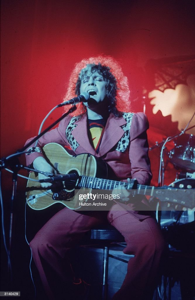 Pop singer Marc Bolan (Mark Feld) (1947 - 1977) at the Lyceum, London.