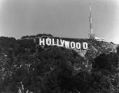 View of the Hollywood sign in Los Angeles California