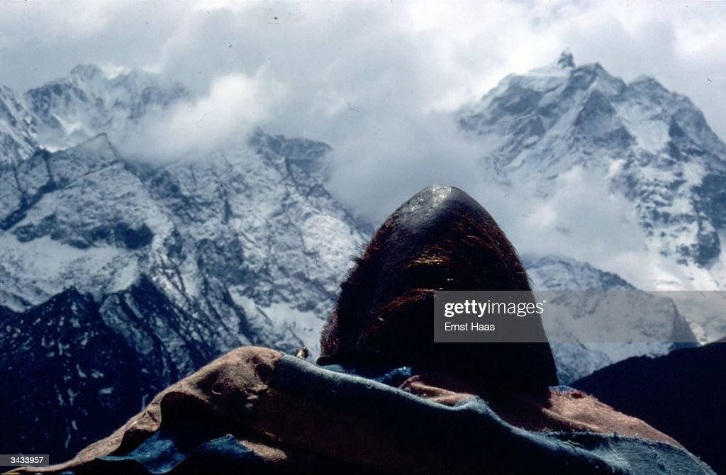 A preserved skull said to be that of a yeti or abominable snowman on display at Pangboche monastery near Mt Everest Himalayan pilgrimage book