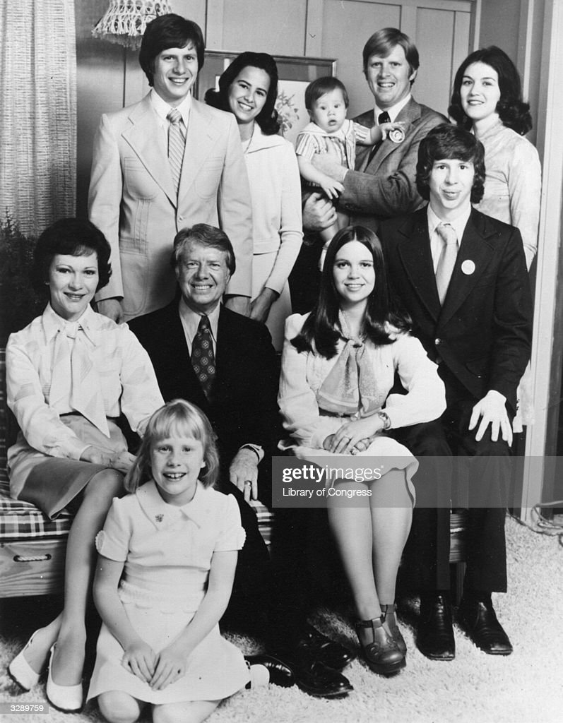 American statesman Jimmy Carter 39th President of the United States of America and his family