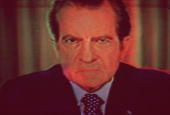 Richard Milhous Nixon 37th President of the USA who resigned in 1974 under threat of impeachment after the Watergate scandal