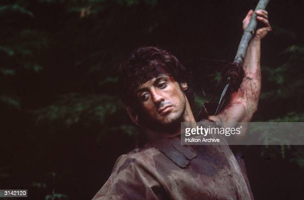 Sylvester Stallone star of the Rocky and Rambo films