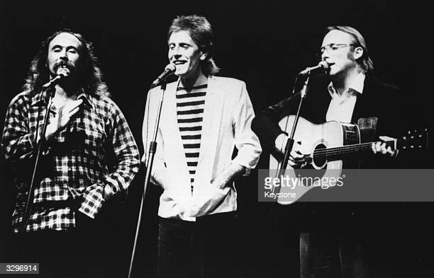 American supergroup Crosby Stills and Nash performing together