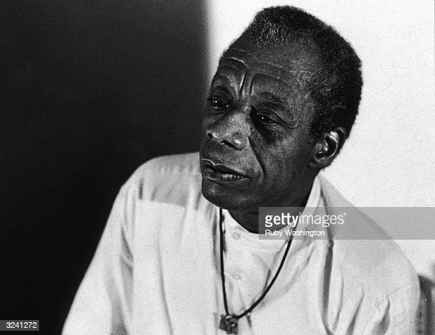Headshot of American author James Baldwin at Hampshire College Amherst Massachusetts