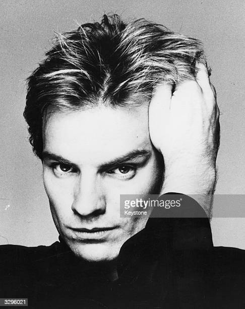 Portrait of singersongwriter and bass player Sting of pop trio The Police