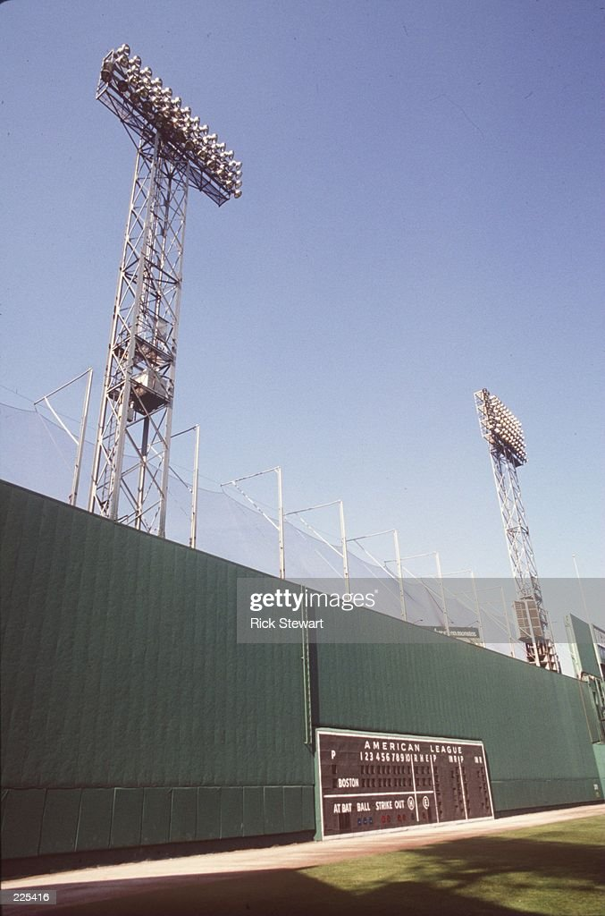 A feature shot of the 'Green Monster' in left field of Fenway Park the home site of the Boston Red Sox in Boston Massachusetts Mandatory Credit Rick...