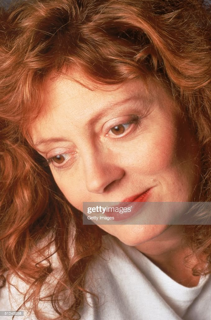 Circa 1995, Closeup portrait of American actor Susan Sarandon, 1990s.