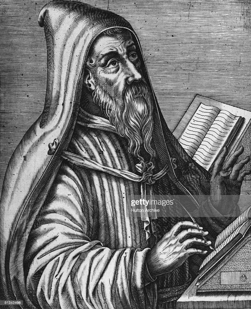 Circa 415 AD Saint Aurelius Augustine of Hippo the greatest of the Latin Church fathers