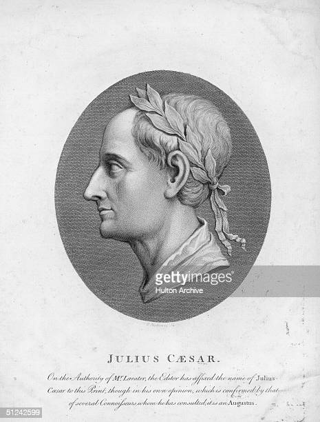 Circa 50 BC A bust of Roman dictator Julius Caesar