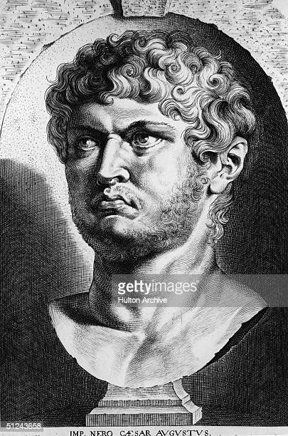 Circa 60 AD Nero Roman emperor from 54 to 68 who executed or banished many eminent people and is said to have started the fire which destroyed two...
