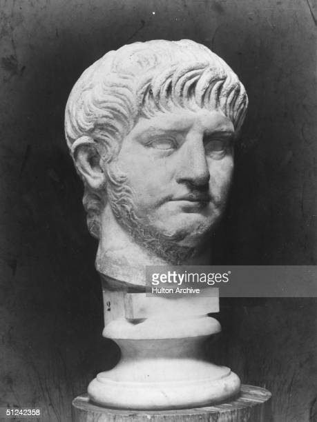 Circa 65 AD A bust of the Roman Emperor Nero
