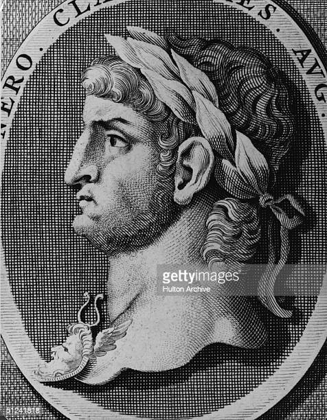 Circa 68 AD The Roman Emperor Nero who ruled from 54 AD until his death