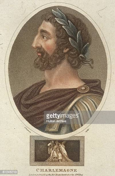 Circa 790 AD The legendary Charlemagne also known as Carolus Magnus Charles the Great King of the Franks and Christian emperor of the West Original...