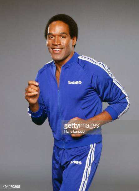 Athlete OJ Simpson poses for a portrait in circa1985 in Los Angeles California