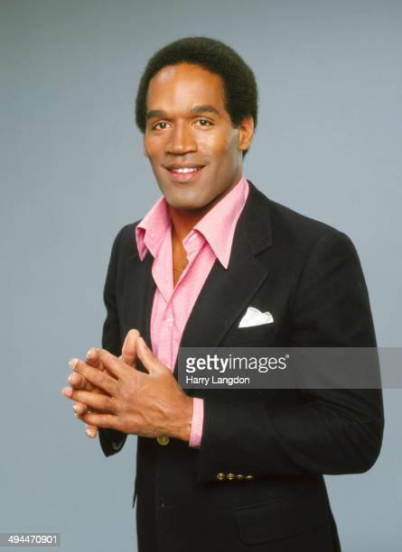 Athlete OJ Simpson poses for a portrait in circa1985 in Los Angeles California
