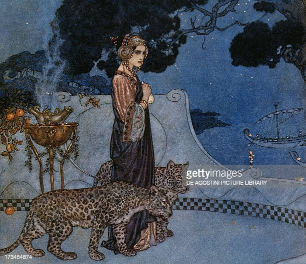 Circe by Edmund Dulac lithograph England 20th century