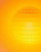 Circle against grid (Digital)
