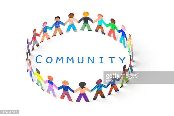 Circle around the word community