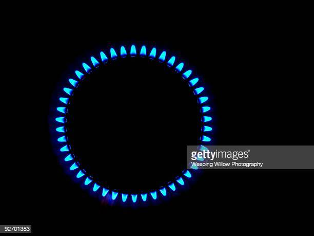 Circle of Blue Flames