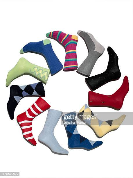 A Circle of Multi-Colored Socks