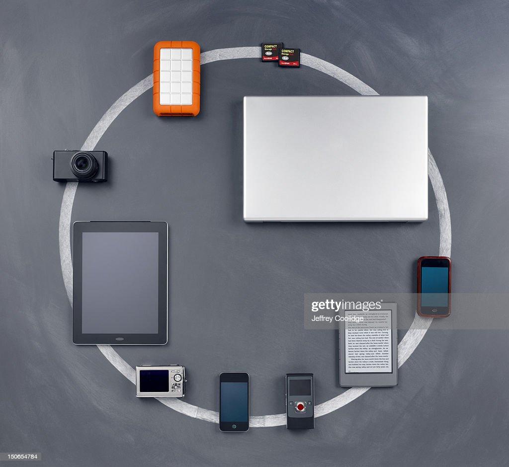 Circle of Technology : Stock Photo
