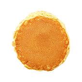 it is circle plain pancake isolated on white.
