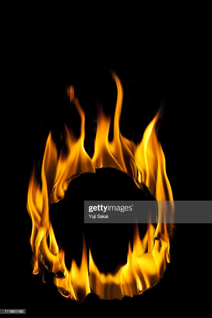 Circle shaped flame