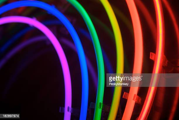 Circles of Neon Rainbow Light