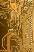 Circuit board close up