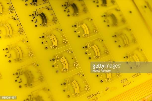 Circuit board detail in circuit board factory