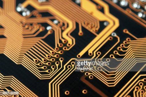 Circuit board digital highways : Stock Photo