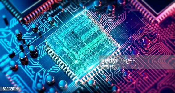 Circuit board. Electronic computer hardware technology. Motherboard digital chip. Tech science EDA background. Integrated communication processor. Information CPU engineering 3D background : Stock Photo