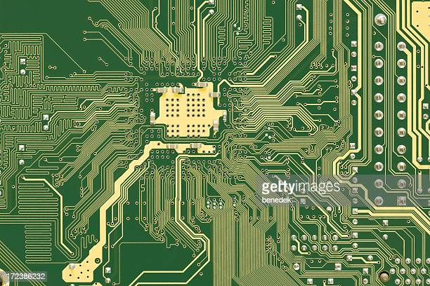 Circuit Board , Green and Gold