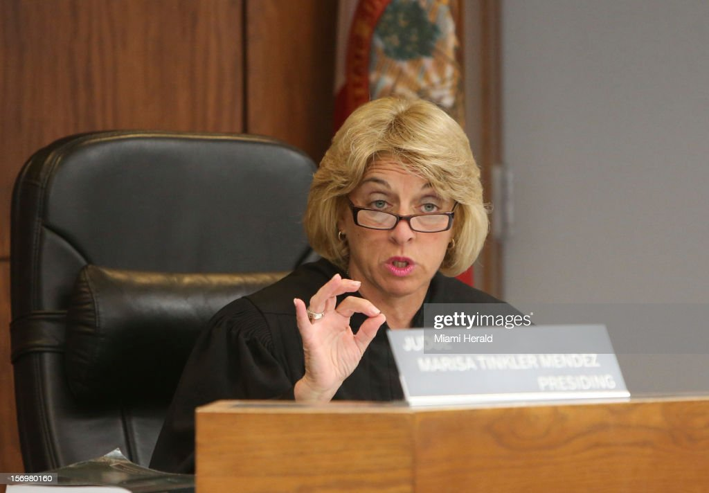 Circuit judge Marisa Tinkler Mendez presides over the trial of Geralyn Graham, a foster caretaker charged with abuse and murder of young Rilya Wilson, Monday, November 26, 2012, in Miami, Florida.