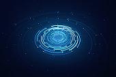 3D rotating circular elements background