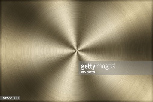 Circular brushed gold metal texture background,illustration : Stock Photo