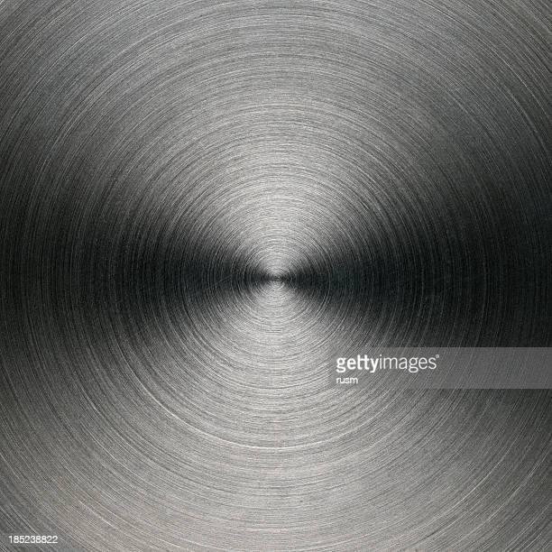 Circular brushed metal background