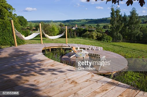 Keywords - Circular Deck With Deck Chairs And Hammocks Stock Photo Getty Images