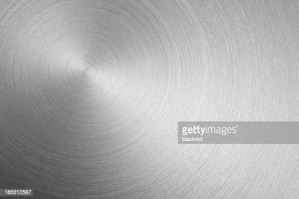 Kreisförmigen Metall gebürstet Textur