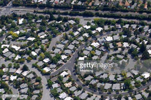 circular neighborhood aerial view