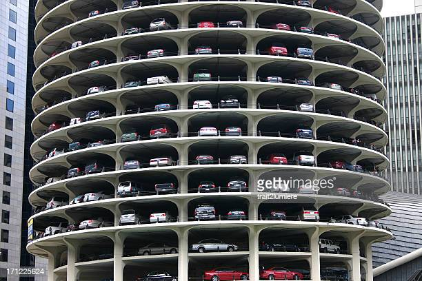 elevated parking lot