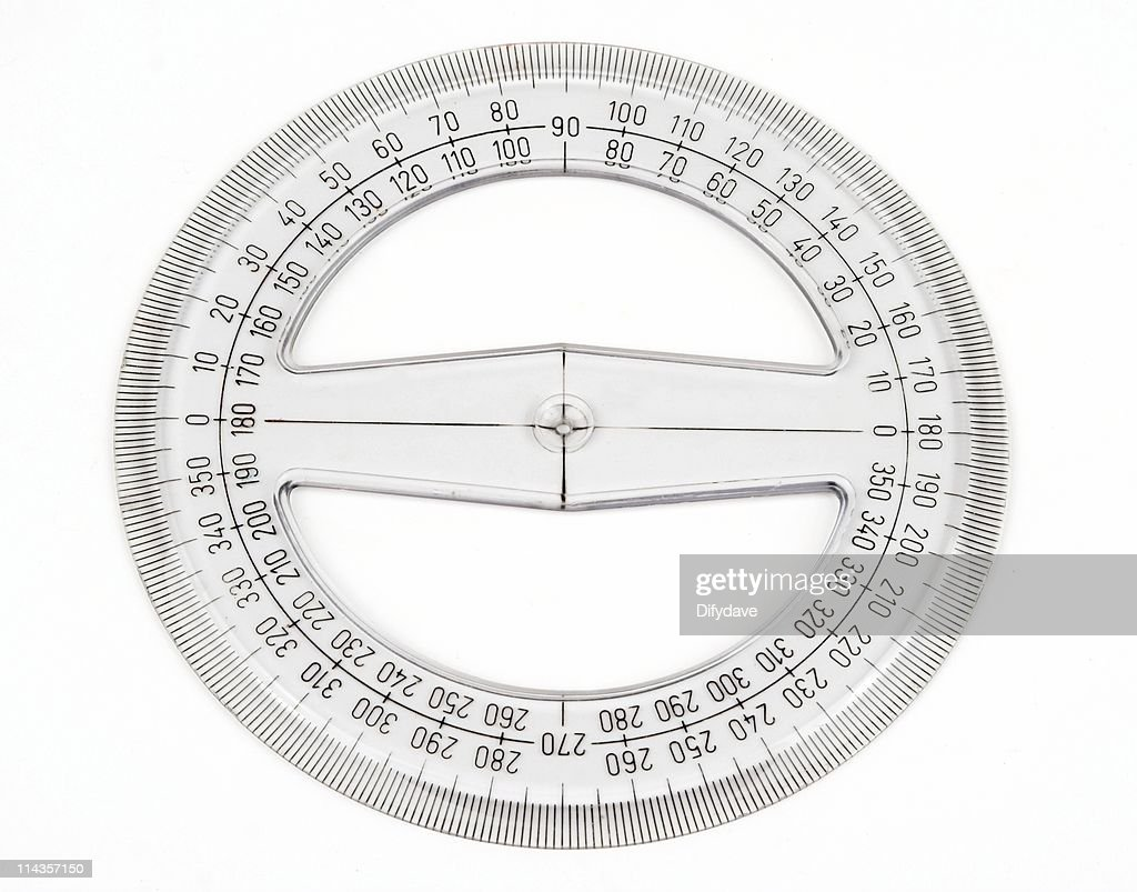 Circular Protractor Isolated On White