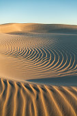 Circular ripples in a sand dunes