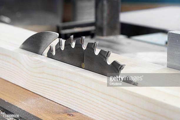 Circular Saw Blade Cutting Softwood