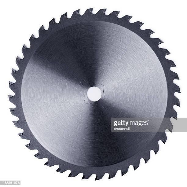 Circular Saw Blade on White