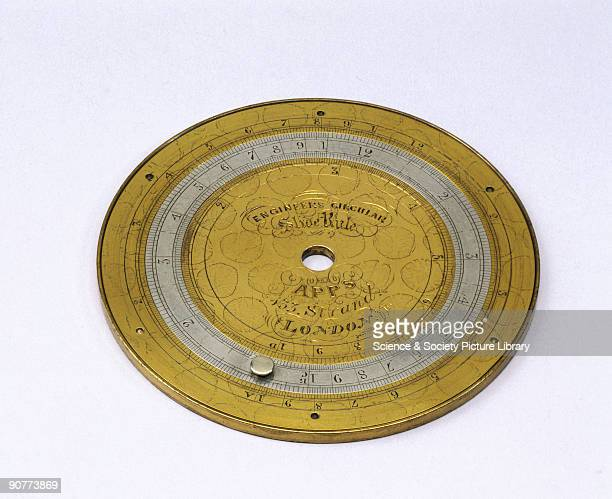A circular slide rule made by Apps A circular slide rule affords a long and therefore accurate logarithmic line in a small amount of space The...