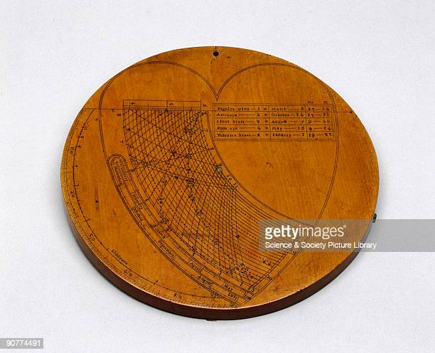 A circular slide rule made by John Brown with two brass radial arms and an stronomical quadrant engraved on the back A spiral slide rule affords a...