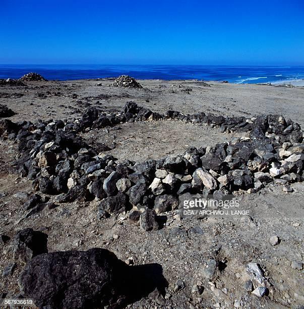 Circular stone tombs in Salalah Oman