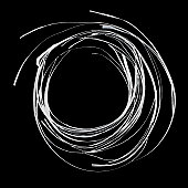 Circular swirl of shredded paper